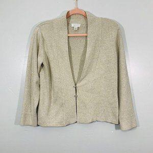 Vintage 90's Beige V-Neck Rhinestone Cardigan